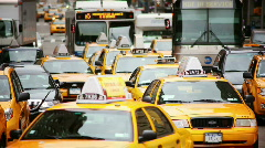 NYC street with traffic Stock Footage