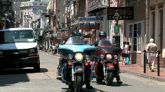 French Quarter Bikers Stock Footage