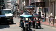 Stock Video Footage of French Quarter Bikers