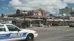 Police Car At The Byword Market Ottawa Stock Footage