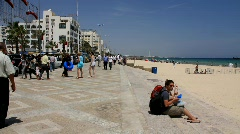Seafront in Sousse, Tunisia - stock footage