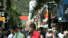 Front Street Tourists-zoom - stock footage