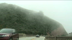 Big Sur drive POV fast motion V2 - HD Stock Footage