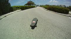 Skateboarding Barefoot Stock Footage