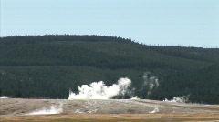 Geyser Crater Steam-zoom Stock Footage