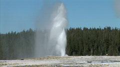 Geyser Erupts-ws-zoom Stock Footage