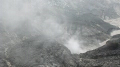 Inside crater Stock Footage