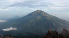 Volcano and cloud Stock Footage