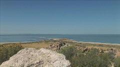 Great Salt Lake Road-xws-zoom Stock Footage