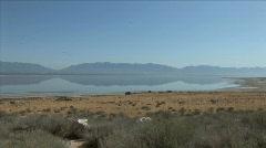 Great Salt Lake-xws-zoom Stock Footage