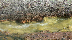 Green Mineral Stream-cu-zoom Stock Footage