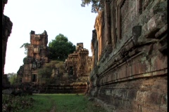 Ruins Ancient Temple, Angkor Wat Stock Footage