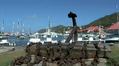 Gustavia Anchor-zoom Stock Footage