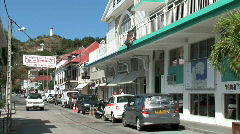 Gustavia Back Street-zooms Stock Footage