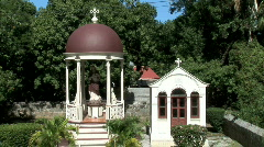 Gustavia Church Monument-zooms Stock Footage