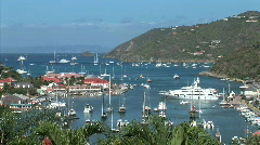 Gustavia Harbor-overhead-xws-zoom Stock Footage