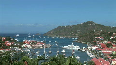 Gustavia Harbor-overhead-xws-zooms Stock Footage