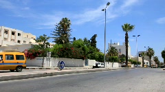 Street in the Sousse, Tunisia - stock footage