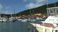 Gustavia Port of Arrival-zooms Stock Footage