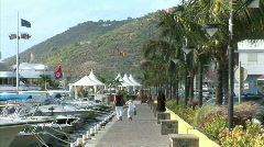 Gustavia Walkway-zoom Stock Footage