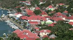 Gustavia-overhead-ws-zoom - stock footage