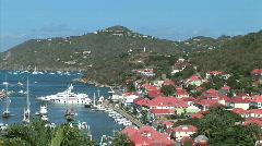 Gustavia-overhead-xws-zoom Stock Footage
