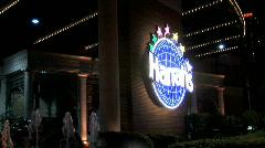 Harrahs Foiuntain-Night-zooms Stock Footage