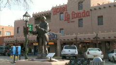 Hotel La Fonda-zooms Stock Footage
