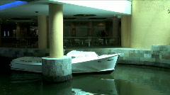 Hotel Shuttle Boat Arrives-pan Stock Footage