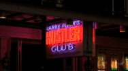 Hustler Club Neon-cu Stock Footage