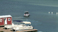 Jordanelle Park Marina Boats-ws-zoom Stock Footage