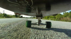 Skateboard: Point of View Stock Footage