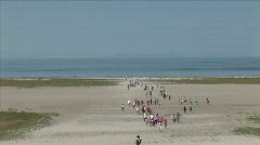 Kids on Great Salt Lak Beach-xws-zooms Stock Footage