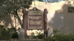Kit Carson Park Sign Stock Footage