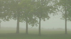 Bicyclist in Fog Stock Footage