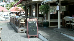 Le Bristo Cafe-zooms Stock Footage