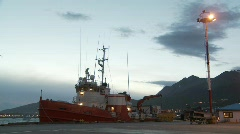 Ship ushuaia Stock Footage