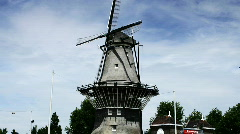 De Gooyer Windmill, Amsterdam, Holland Stock Footage