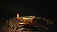 Animated Train Toy  Stock Footage