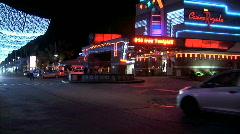 Maho Plaza Traffic-Night Stock Footage