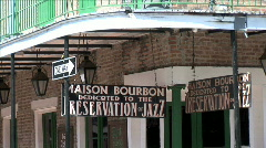 Maison Bourbon Sign-zoom Stock Footage