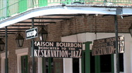 Maison Bourbon Sign-zoom Stock Footage