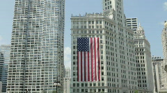 Large Flag on Building Stock Footage