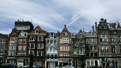 Typical buildings in Amsterdam, The Netherlands - stock footage