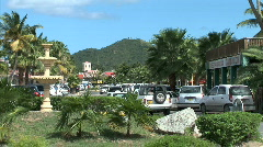 Marigot Roundabout Traffic-zoom Stock Footage