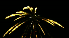 A group of missiles launched,Eruption of gold fire & fireworks,war scene. Stock Footage