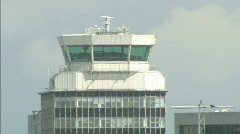 Airport Control Tower - Manchester airport 1920x1080 Stock Footage