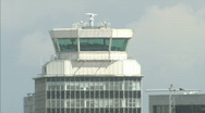 Stock Video Footage of Airport Control Tower - Manchester airport