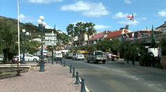 Marigot Traffic - stock footage