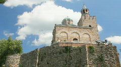 Tsarevets Fortress Church, Veliko Tarnovo, Bulgaria Stock Footage